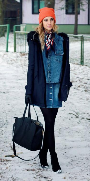 blue-med-mini-skirt-denim-blue-navy-scarf-neck-blue-navy-jacket-coat-beanie-orange-black-tights-gloves-fall-winter-blonde-lunch.jpg