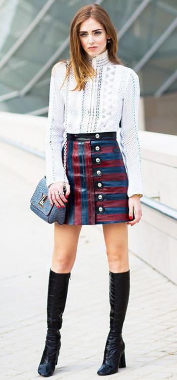 blue-navy-mini-skirt-stripes-white-top-blouse-blue-bag-black-shoe-boots-howtowear-fall-winter-hairr-dinner.jpg