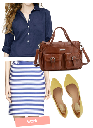 blue-navy-mini-skirt-blue-navy-top-blouse-stripe-yellow-shoe-pumps-brown-bag-howtowear-fashion-style-outfit-spring-summer-casual-work.jpg