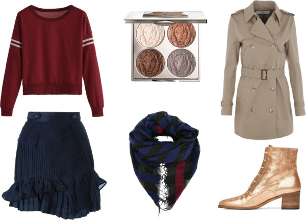 blue-navy-mini-skirt-blue-navy-scarf-tan-shoe-booties-gold-burgundy-sweater-trench-tan-jacket-coat-fall-winter-lunch.jpg