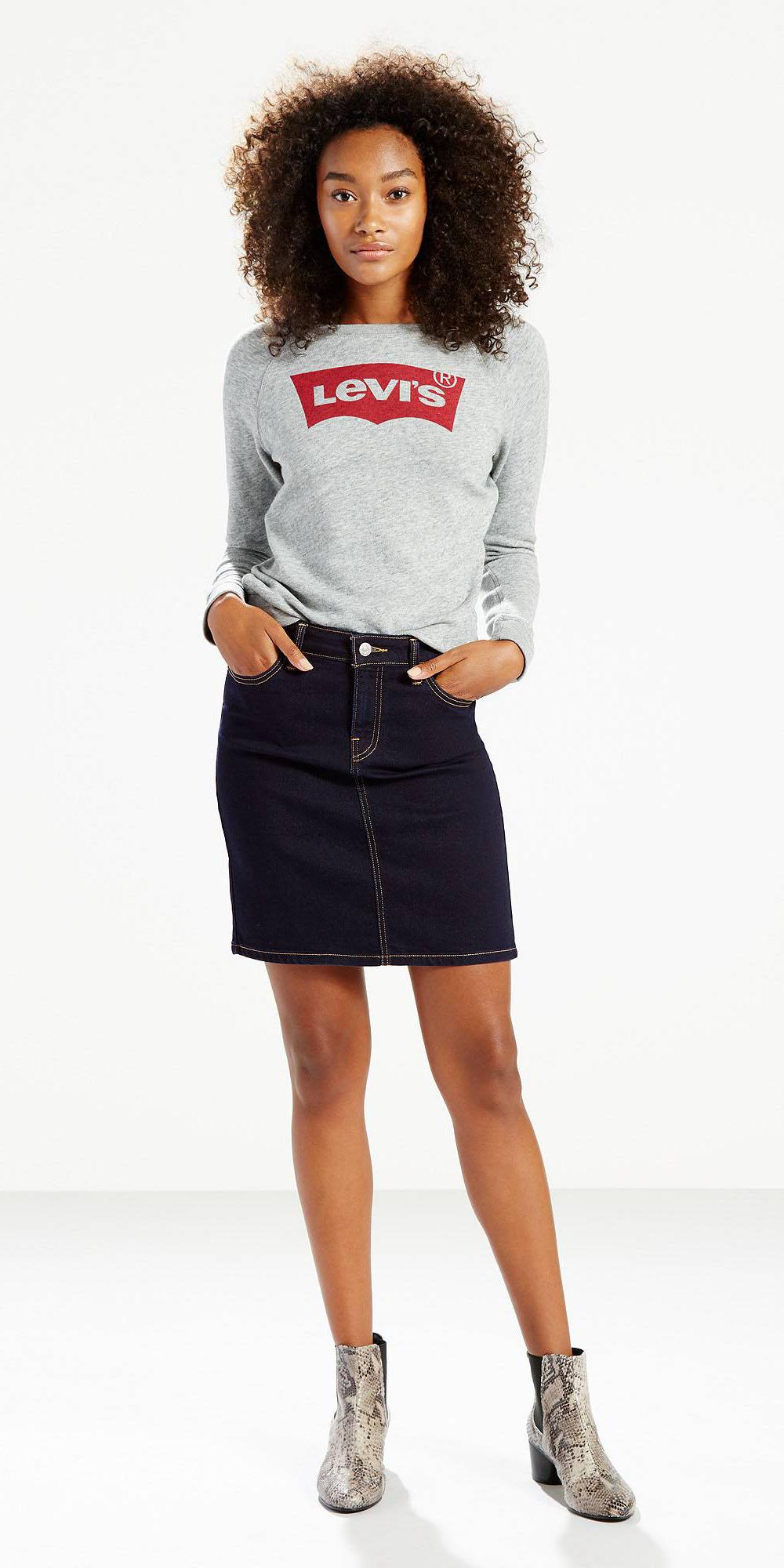 blue-navy-mini-skirt-denim-grayl-sweater-sweatshirt-grayl-shoe-booties-snakeskin-fall-winter-brun-lunch.jpg