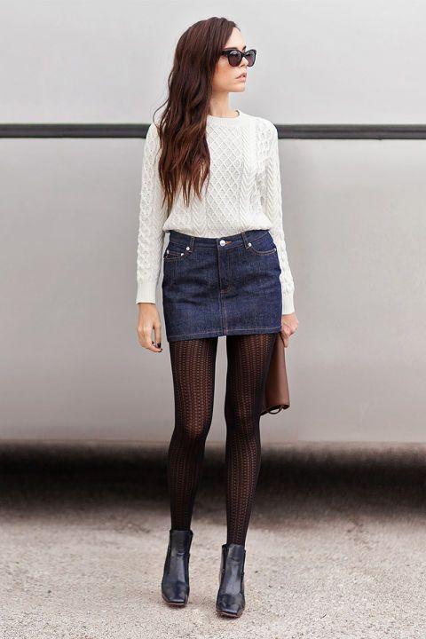 blue-navy-mini-skirt-white-sweater-brown-bag-sun-wear-style-fashion-fall-winter-denim-black-shoe-booties-black-tights-brun-lunch.jpg