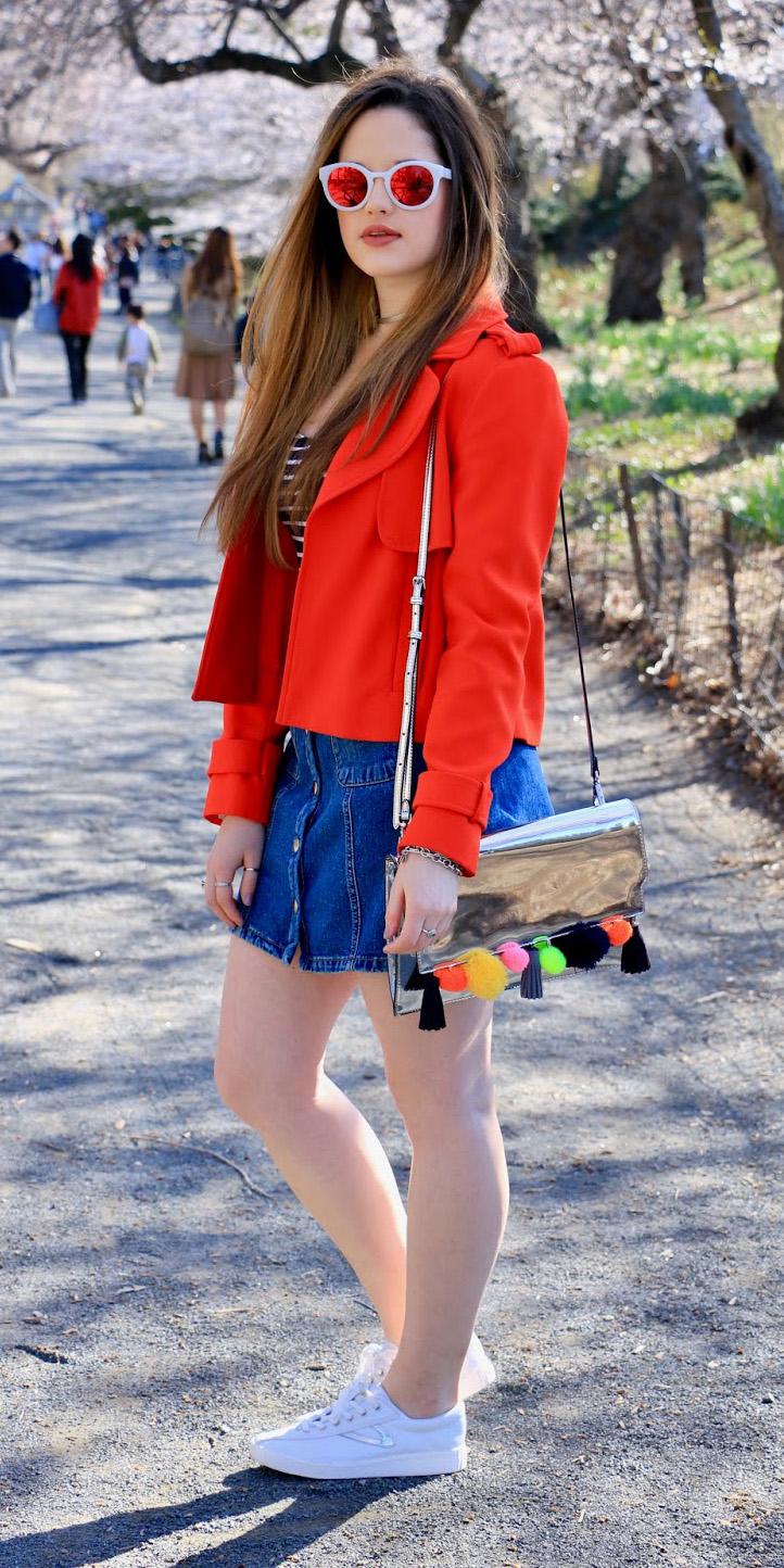 blue-navy-mini-skirt-denim-sun-hairr-white-shoe-sneakers-gray-bag-silver-orange-jacket-moto-spring-summer-weekend.jpg