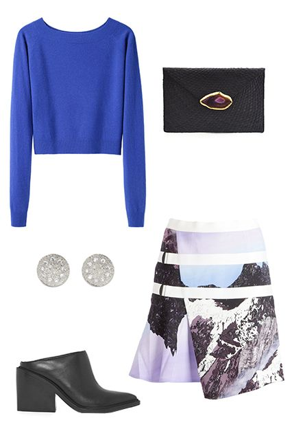 purple-light-mini-skirt-blue-med-sweater-cobalt-black-bag-black-shoe-booties-studs-graphic-print-howtowear-fashion-style-outfit-spring-summer-dinner.jpg