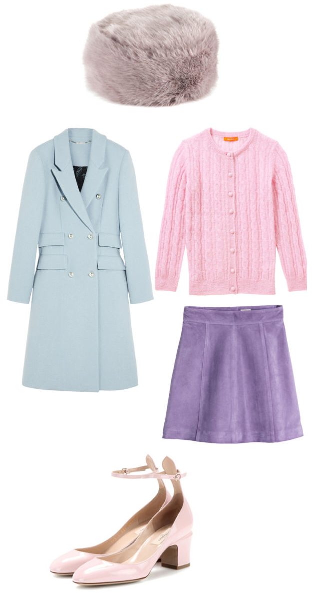 purple-light-mini-skirt-pink-light-cardigan-blue-light-jacket-coat-hat-pink-shoe-sandalh-howtowear-fashion-style-outfit-fall-winter-lunch.jpg
