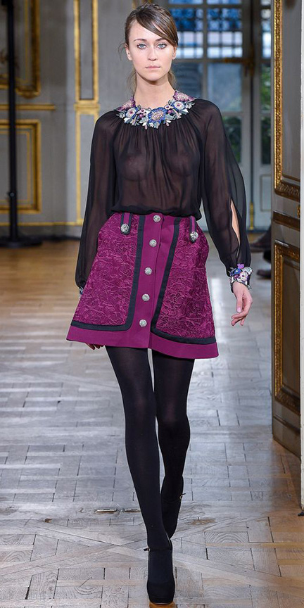 purple-royal-mini-skirt-black-top-blouse-sheer-hairr-black-tights-black-shoe-pumps-fall-winter-dinner.jpg