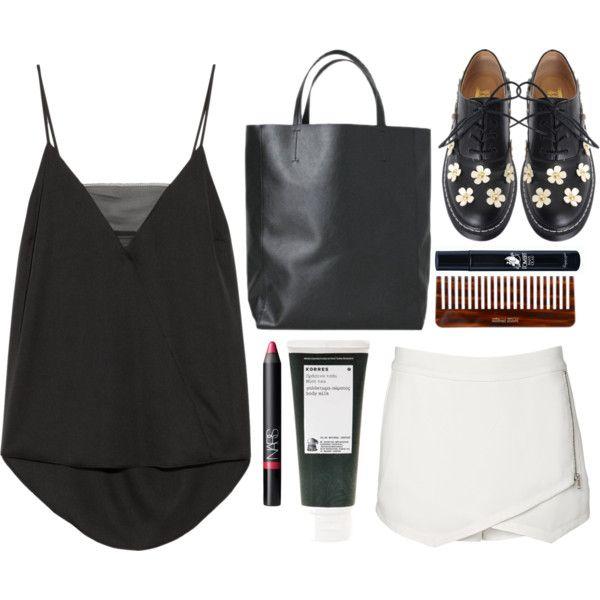 how-to-style-white-mini-skirt-black-cami-black-shoe-brogues-black-bag-tote-spring-summer-fashion-weekend.jpg