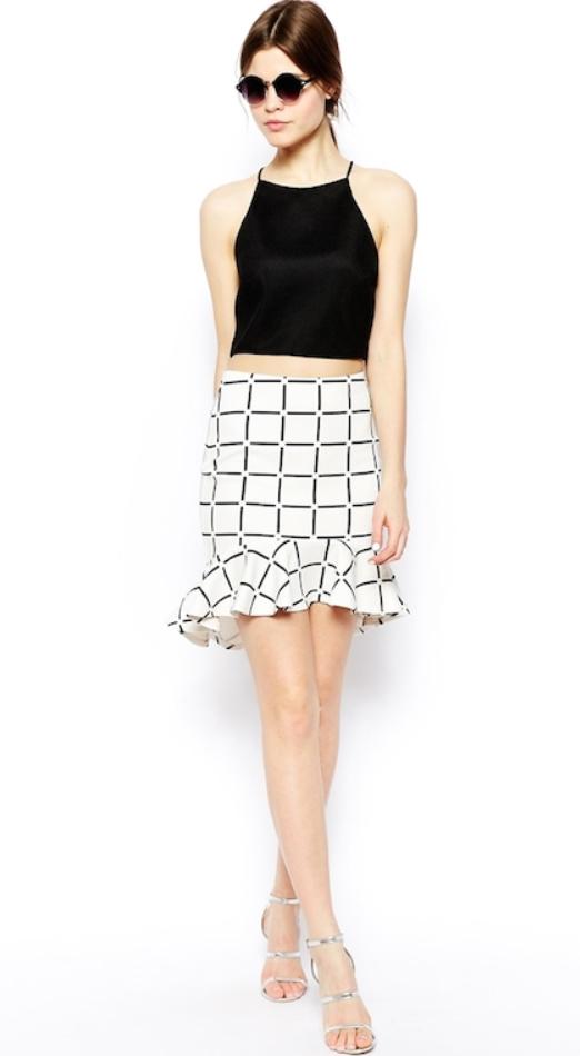 white-mini-skirt-black-top-sun-pony-print-wear-style-fashion-spring-summer-windowpane-gray-shoe-sandalh-halter-brun-lunch.jpg