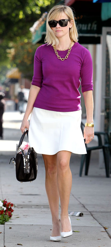 white-mini-skirt-purple-royal-sweater-chain-necklace-white-shoe-pumps-black-bag-reesewitherspoon-howtowear-style-spring-summer-blonde-work.jpg