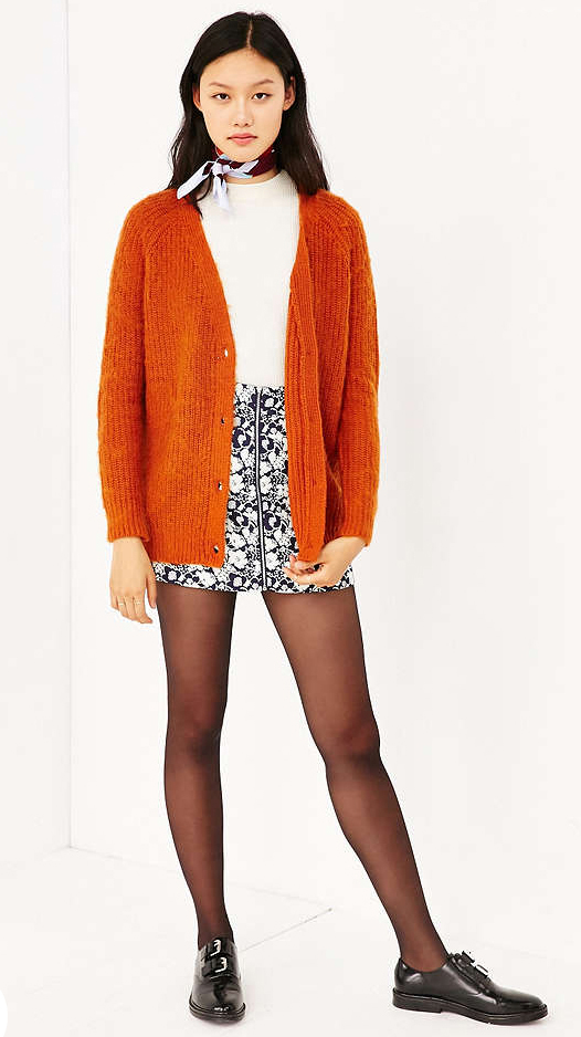 white-mini-skirt-white-top-orange-cardiganl-wear-style-fashion-fall-winter-black-shoe-brogues-print-burgundy-scarf-neck-black-tights-brun-lunch.jpg