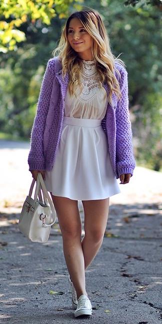 white-mini-skirt-white-bag-blonde-white-shoe-sneakers-purple-royal-cardigan-spring-summer-weekend.jpg