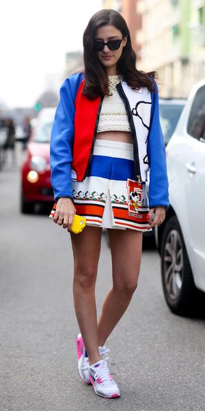 white-mini-skirt-white-crop-top-blue-med-jacket-bomber-white-shoe-sneakers-fall-winter-brun-lunch.jpg