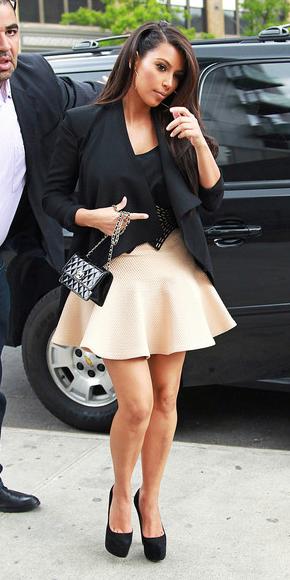 white-mini-skirt-black-jacket-drape-hoops-black-bag-black-shoe-pumps-kimkardashian-fall-winter-brun-dinner.jpg