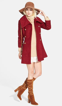 white-mini-skirt-o-tan-sweater-red-jacket-coat-howtowear-fashion-style-outfit-fall-winter-turtleneck-cognac-shoe-boots-hat-double-breasted-guess-blonde-lunch.jpg
