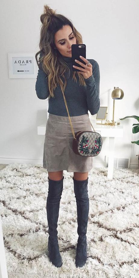 grayl-mini-skirt-grayd-tee-turtleneck-hairr-gray-shoe-boots-otk-tonal-fall-winter-lunch.jpg