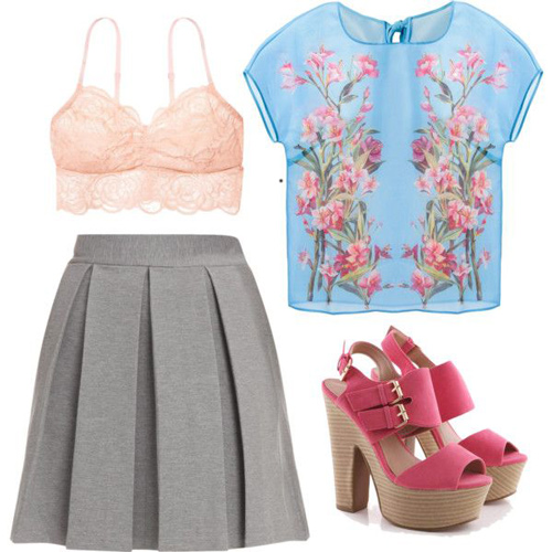 grayl-mini-skirt-blue-light-top-pink-bralette-magenta-shoe-sandalh-floral-sheer-pleat-howtowear-fashion-style-outfit-spring-summer-lace-lunch-dinner.jpg