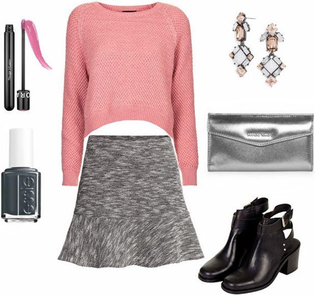 grayl-mini-skirt-pink-light-sweater-crop-howtowear-fashion-style-outfit-fall-winter-metallic-gray-bag-clutch-black-shoe-booties-earrings-jewel-nail-night-dinner.jpg