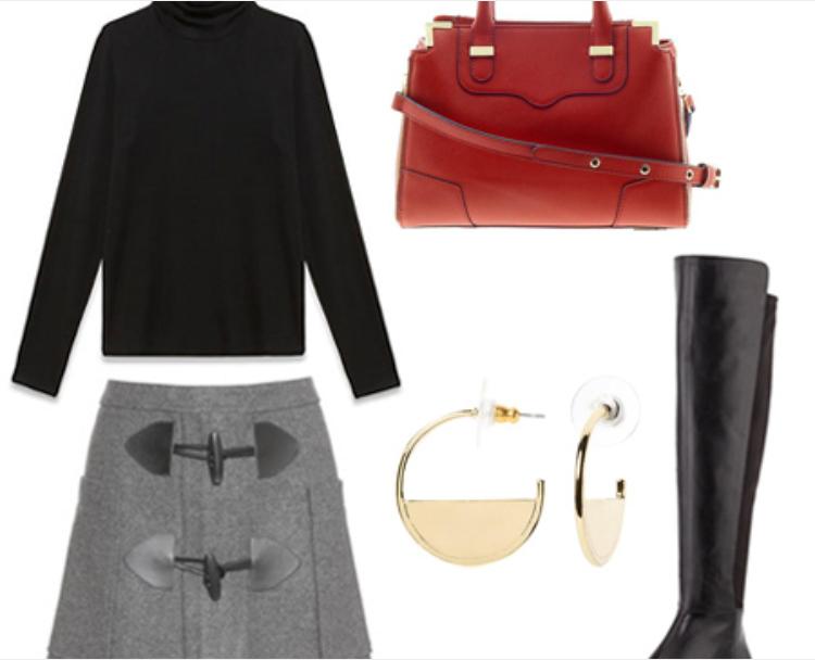 grayl-mini-skirt-black-sweater-red-bag-hoops-wear-style-fashion-fall-winter-black-shoe-boots-work.jpg