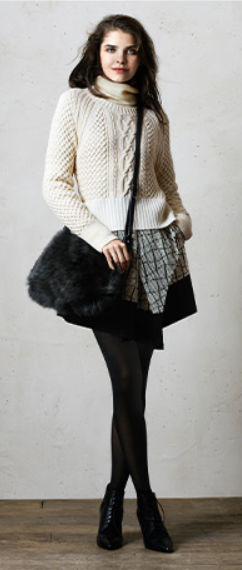 grayl-mini-skirt-white-sweater-wear-style-fashion-fall-winter-black-tights-black-bag-black-shoe-booties-turtleneck-plaid-brun-lunch.jpg