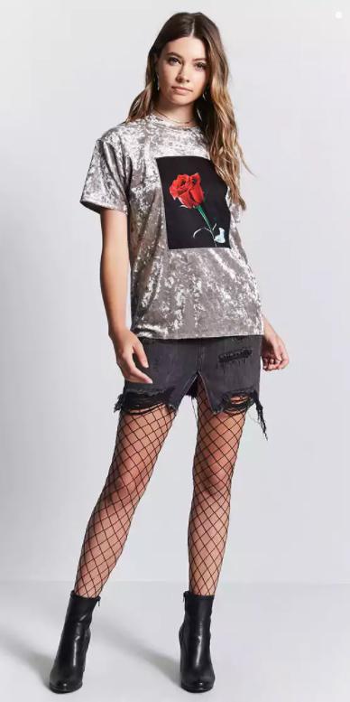 black-mini-skirt-grayl-graphic-tee-black-tights-fishnet-hairr-black-shoe-booties-velvet-fall-winter-dinner.jpg
