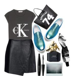 black-mini-skirt-black-graphic-tee-blue-shoe-sneakers-black-bag-tote-leather-style-outfit-spring-summer-weekend.jpg