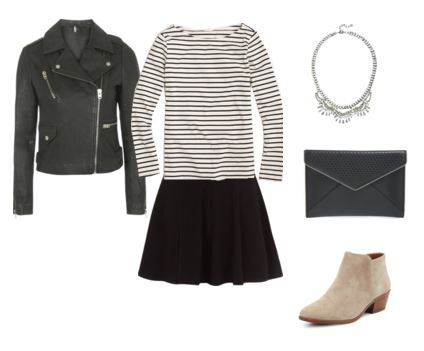 black-mini-skirt-black-tee-stripe-black-bag-clutch-bib-necklace-tan-shoe-booties-leather-black-jacket-moto-howtowear-fashion-style-outfit-spring-summer-lunch.jpg