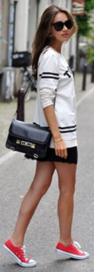black-mini-skirt-white-graphic-tee-black-bag-sun-red-shoe-sneakers-fashion-style-outfit-spring-summer-hairr-weekend.jpg