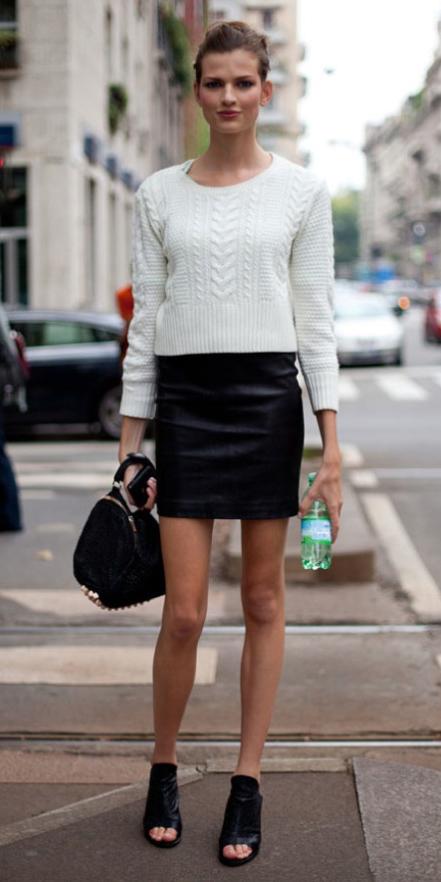 black-mini-skirt-white-sweater-wear-style-fashion-fall-winter-black-shoe-sandalh-black-bag-hand-bun-peeptoe-hairr-lunch.jpg