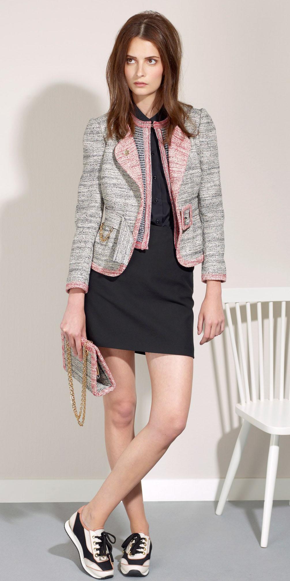 black-mini-skirt-black-collared-shirt-grayl-jacket-lady-hairr-white-shoe-sneakers-tweed-fall-winter-lunch.JPG