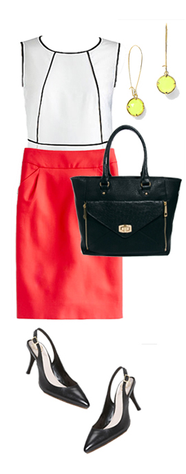 red-pencil-skirt-white-top-earrings-black-shoe-pumps-black-bag-howtowear-fashion-style-outfit-spring-summer-work.jpg