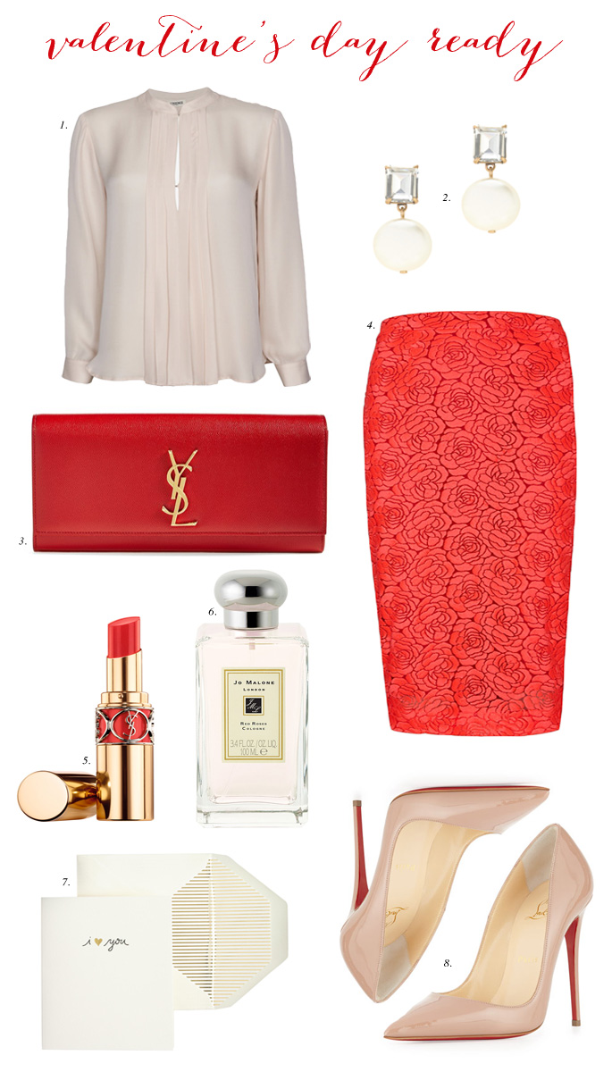 red-pencil-skirt-lace-white-top-blouse-pearl-earrings-red-bag-clutch-tan-shoe-pumps-howtowear-valentinesday-outfit-fall-winter-dinner.jpg