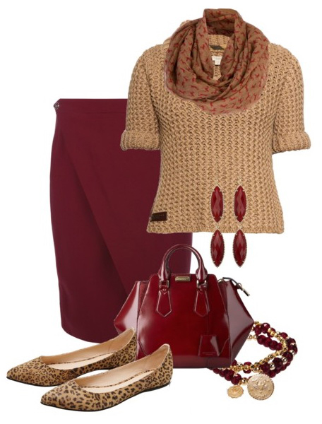 red-pencil-skirt-o-tan-sweater-camel-scarf-howtowear-fashion-style-outfit-fall-winter-leopard-tan-shoe-flats-earrings-bracelet-red-bag-work.jpg