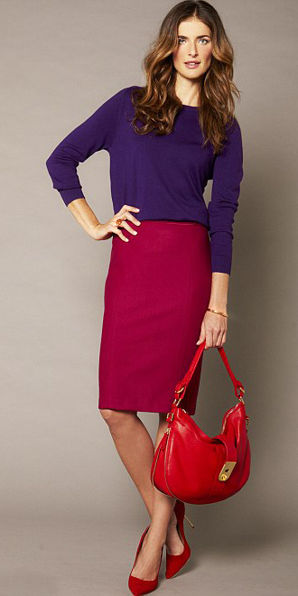 red-pencil-skirt-purple-royal-sweater-red-shoe-pumps-red-bag-hairr-fall-winter-lunch.jpg