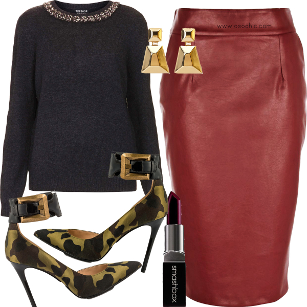 red-pencil-skirt-leather-black-sweater-earrings-green-shoe-pumps-camo-print-fall-winter-thanksgiving-outfits-holidays-dinner.jpg