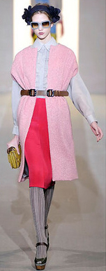 red-pencil-skirt-white-top-blouse-pink-light-vest-knit-belt-gray-tights-brown-shoe-sandalw-sun-head-yellow-bag-clutch-howtowear-fashion-style-outfit-fall-winter-hairr-lunch.jpg