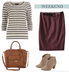 burgundy-pencil-skirt-tan-shoe-booties-cognac-bag-tan-tee-stripe-fall-winter-weekend.jpg