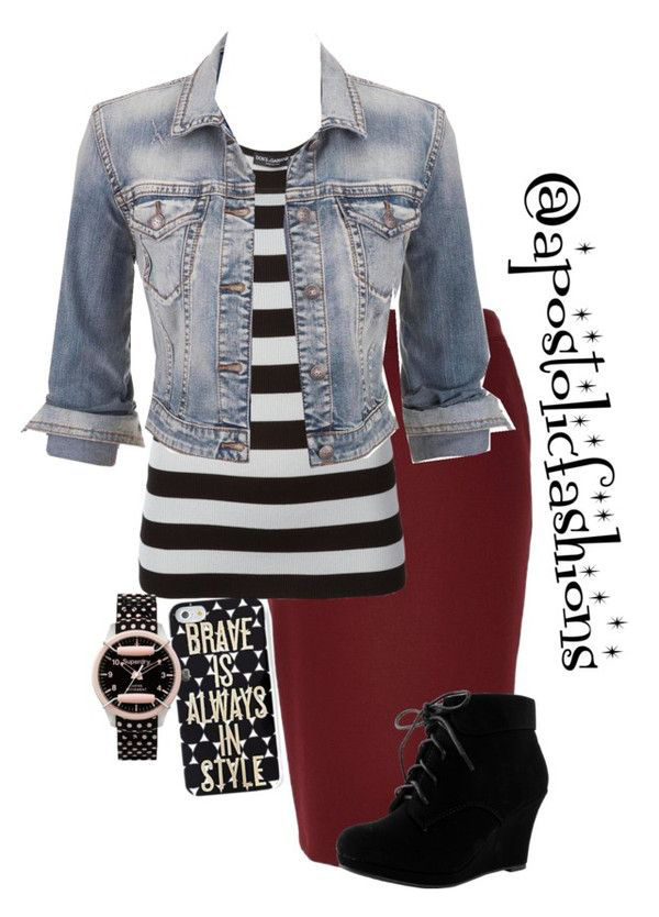 r-burgundy-pencil-skirt-black-tee-stripe-blue-light-jacket-jean-howtowear-fashion-style-outfit-fall-winter-bold-crop-denim-wedge-black-shoe-booties-watch-lunch.jpg