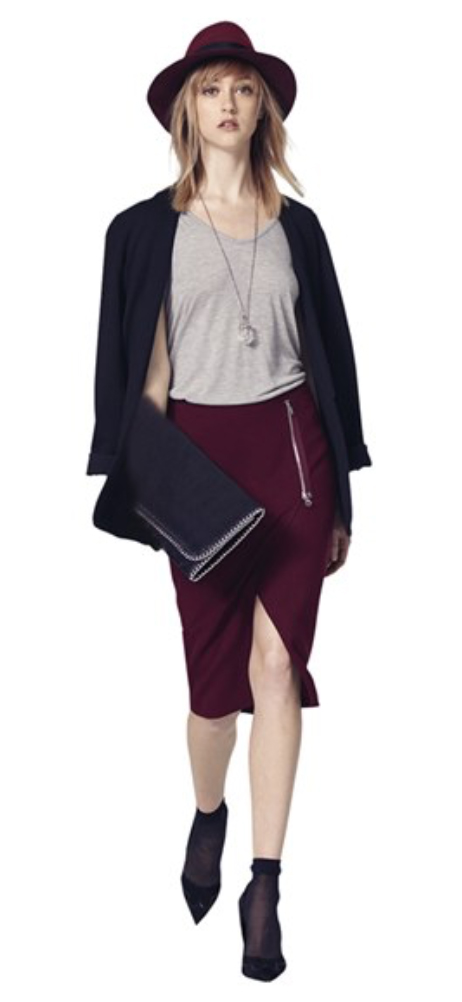 r-burgundy-pencil-skirt-grayl-tee-black-jacket-blazer-howtowear-style-fashion-fall-winter-socks-black-bag-clutch-necklace-pend-hat-black-shoe-pumps-blonde-dinner.jpg