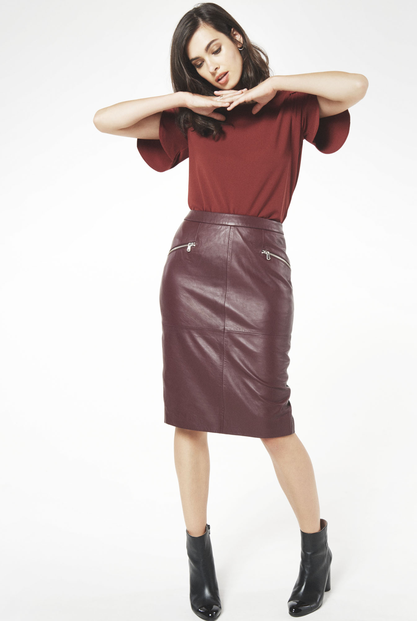 burgundy-pencil-skirt-black-shoe-booties-brun-burgundy-top-blouse-fall-winter-weekend.jpg