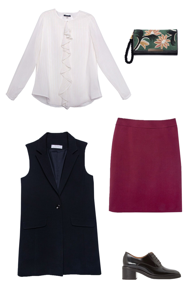 r-burgundy-pencil-skirt-white-top-blouse-black-bag-clutch-howtowear-fashion-style-outfit-fall-winter-black-vest-tailor-oxford-black-shoe-brogues-work.jpg