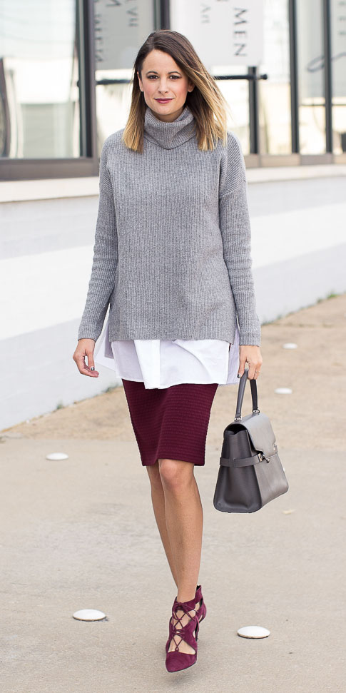 burgundy-pencil-skirt-grayl-sweater-turtleneck-burgundy-shoe-pumps-gray-bag-layer-fall-winter-hairr-work.jpg