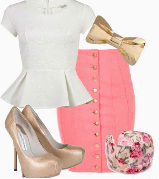 pink-light-pencil-skirt-white-top-peplum-bracelet-tan-shoe-pumps-spring-summer-lunch.jpg