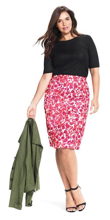 pink-magenta-pencil-skirt-print-black-tee-black-shoe-sandalh-green-olive-jacket-utility-fall-winter-brun-lunch.jpg