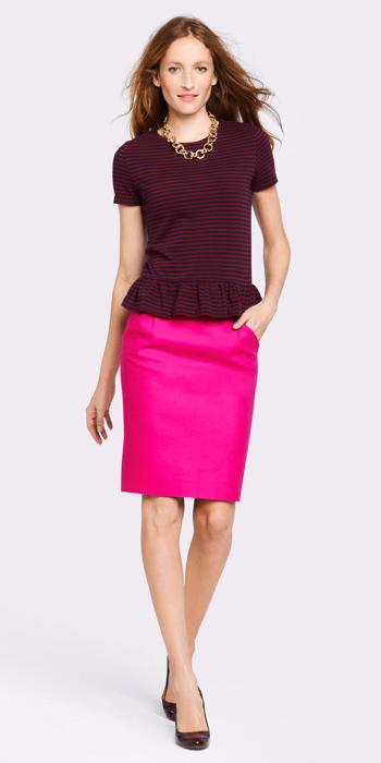 pink-magenta-pencil-skirt-burgundy-top-stripe-chain-necklace-hairr-spring-summer-work.jpg