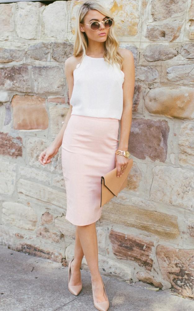 peach-pencil-skirt-white-top-tan-shoe-pumps-sun-blonde-watch-spring-summer-lunch.jpg