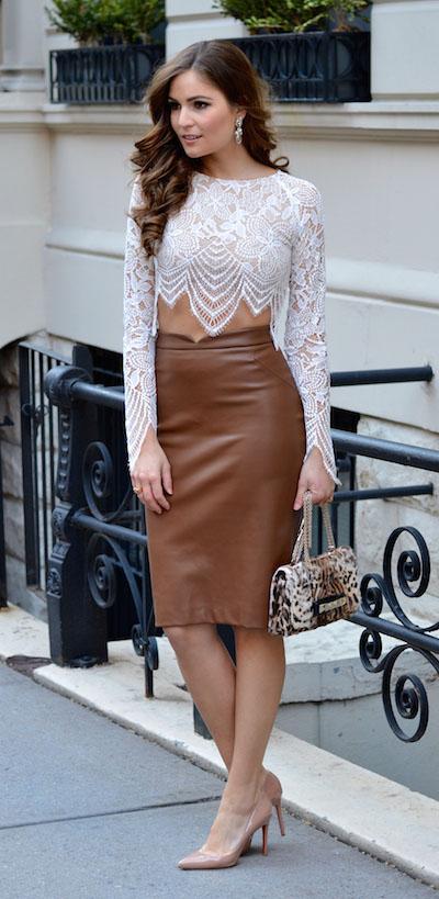 camel-pencil-skirt-leather-white-crop-top-lace-earrings-tan-shoe-pumps-tan-bag-leopard-fall-winter-brun-dinner.jpg
