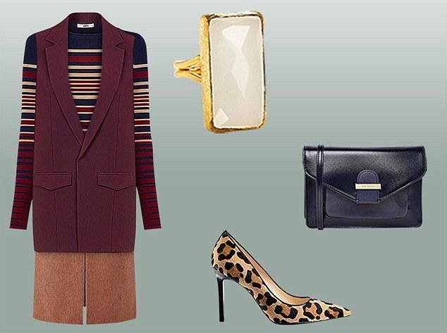 camel-pencil-skirt-burgundy-sweater-stripe-burgundy-vest-tailor-black-bag-tan-shoe-pumps-leopard-ring-fall-winter-lunch.jpg