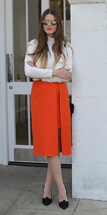 orange-pencil-skirt-white-sweater-turtleneck-hairr-sun-fall-winter-lunch.jpg
