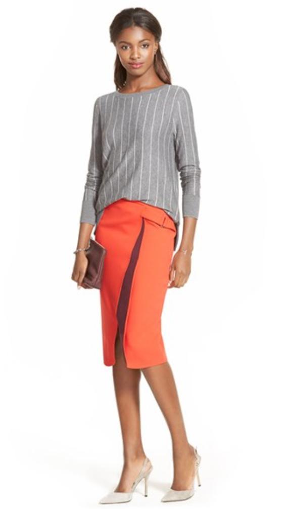 orange-pencil-skirt-grayl-sweater-howtowear-style-fashion-spring-summer-white-shoe-pumps-brun-work.jpg