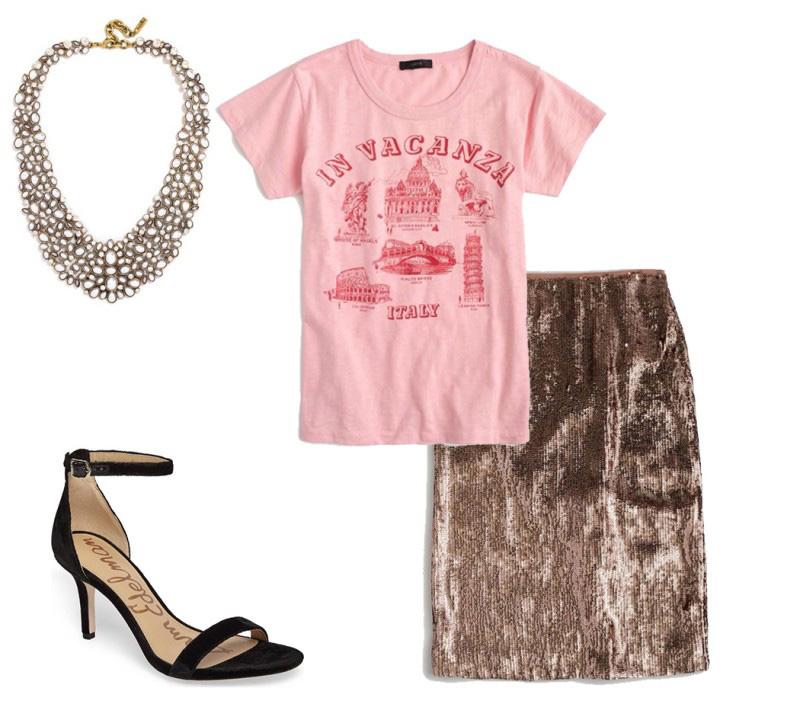 pink-light-graphic-tee-brown-pencil-skirt-bib-necklace-black-shoe-sandalh-spring-summer-dinner.jpg